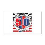 tribal 50 Car Magnet 20 x 12