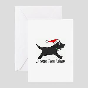 CHRISTMAS DOG - Jingle Bell Walk - Greeting Cards