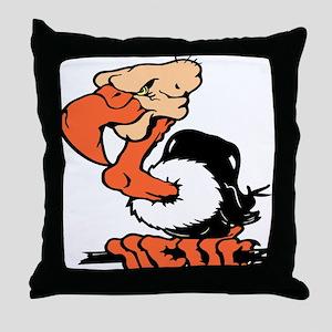 Funny Buzzard Throw Pillow