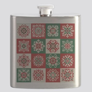 Knitted Christmas Pattern Flask