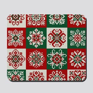 Knitted Christmas Pattern Mousepad