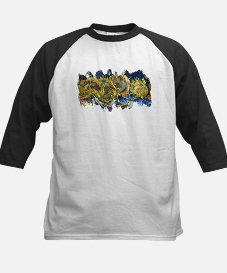 Four Cut Sunflowers by Van Gogh Baseball Jersey