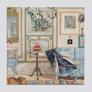Cozy Corner by Carl Larsson Tile Coaster