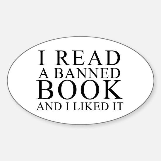 Cute Free to read Sticker (Oval)