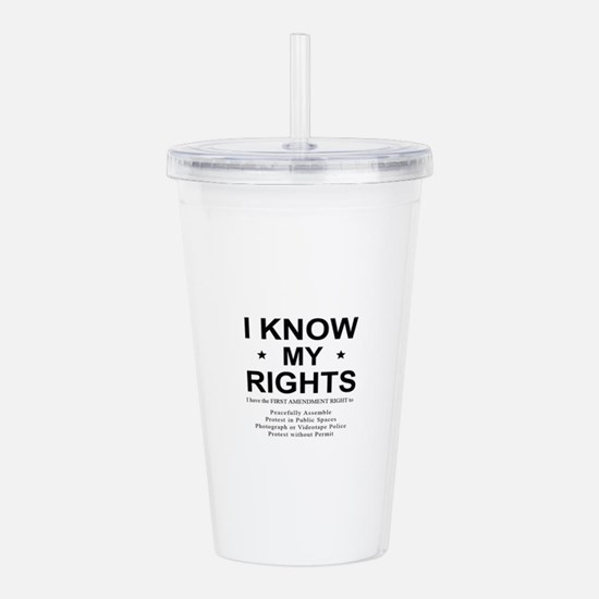 I KNOW MY RIGHTS BL Acrylic Double-wall Tumbler
