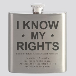I KNOW MY RIGHTS BL Flask