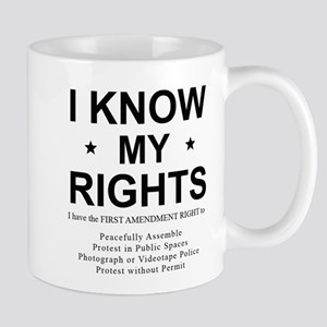 I KNOW MY RIGHTS BL Mugs