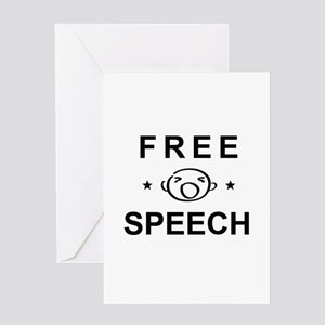 FREE SPEECH Greeting Cards