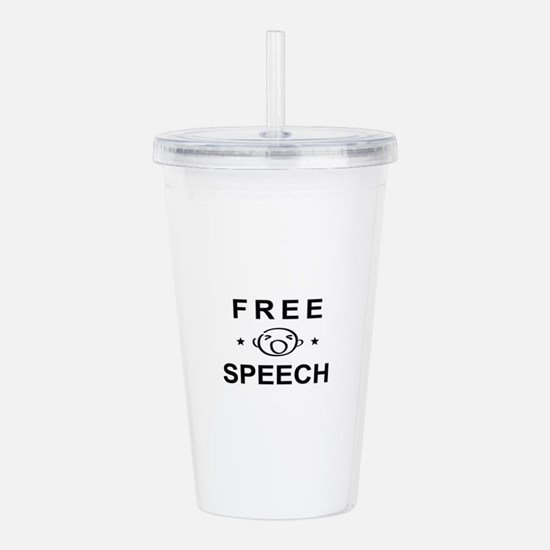 FREE SPEECH Acrylic Double-wall Tumbler