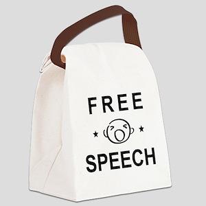FREE SPEECH Canvas Lunch Bag