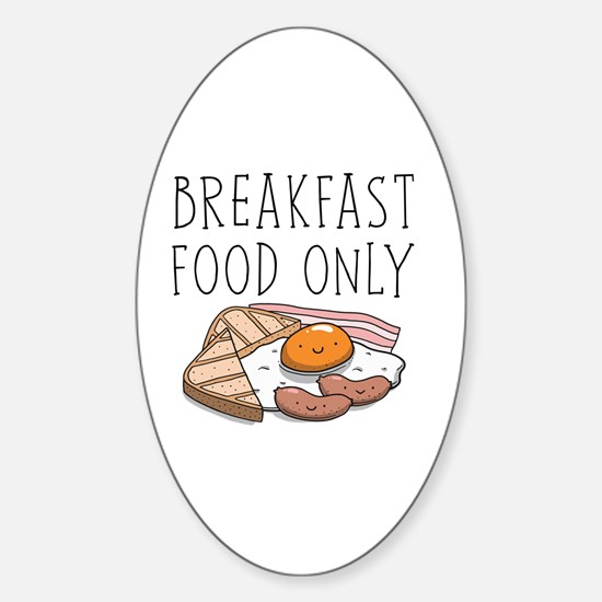 Cute Bacon and eggs Sticker (Oval)