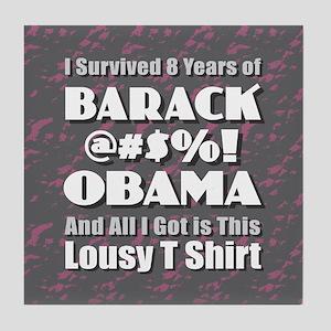 Survived Obama Tile Coaster