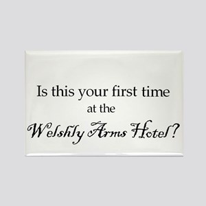 Welshly Arms Hotel Rectangle Magnet
