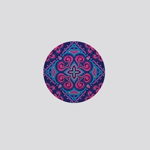 Bohemian Style Ethnic Print Mini Button