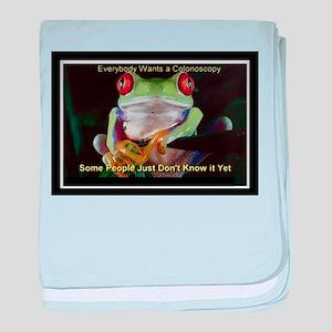 Colon Frog Lrg baby blanket