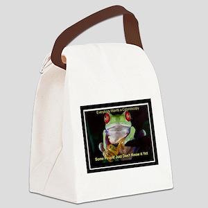 Colon Frog Lrg Canvas Lunch Bag