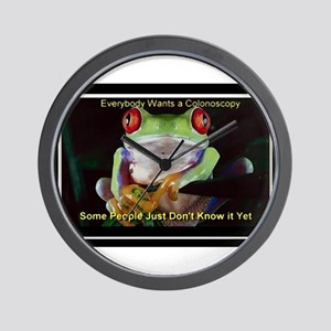 Colon Frog Lrg Wall Clock