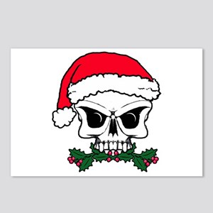 Christmas mistletoe skull Postcards (Package of 8)