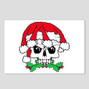 Dread head Santa skull. Postcards (Package of 8)