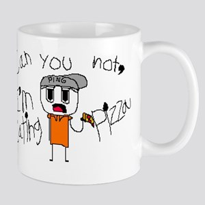 Can You Not, I'm eating Pizza Mugs