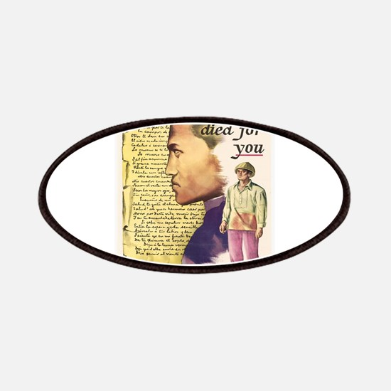 Vintage poster - Rizal died for you Patch