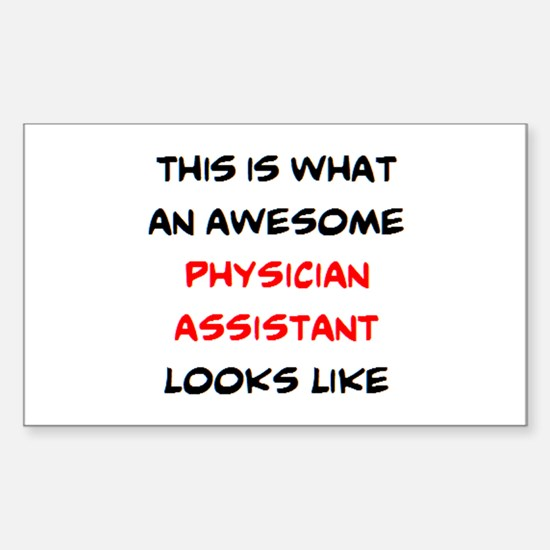 awesome physician assistant Sticker (Rectangle)