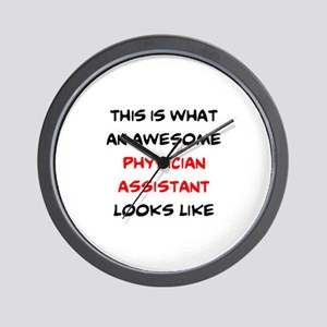 awesome physician assistant Wall Clock