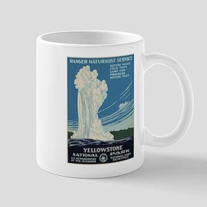 Vintage poster - Yellowstone National Park Mugs