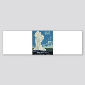 Vintage poster - Yellowstone Nation Bumper Sticker