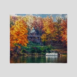House on the Lake Throw Blanket