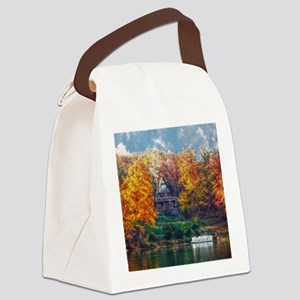 House on the Lake Canvas Lunch Bag