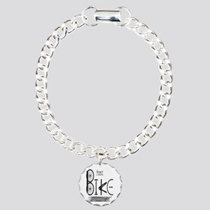 Just Bike Motivational Charm Bracelet, One Charm