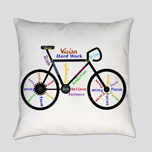 Bike made up of words to motivate Everyday Pillow
