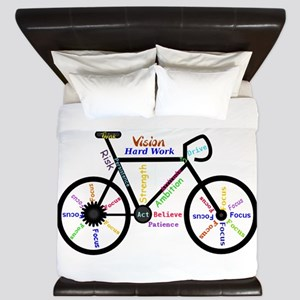 Bike made up of words to motivate King Duvet