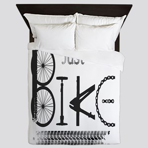 Just Bike Motivational Quote Made From Queen Duvet