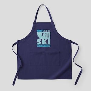 Skiing T Shirt Apron (dark)