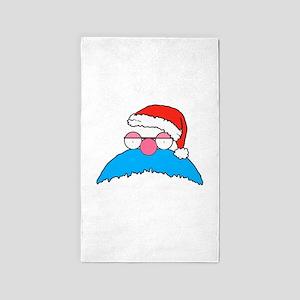Mustache Santa Area Rug
