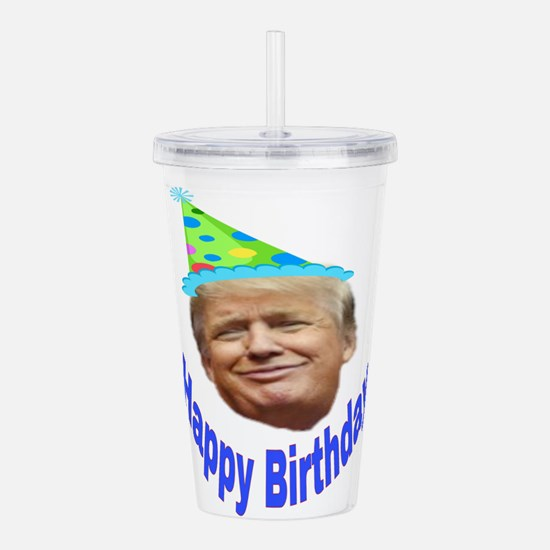 Happy Birthday Acrylic Double-wall Tumbler
