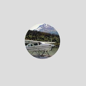 Float plane, Trail Lake, Alaska 3 Mini Button