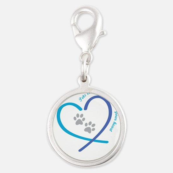 pets leave paw prints on your heart Charms