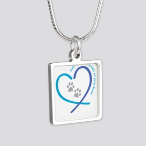 pets leave paw prints on your heart Necklaces