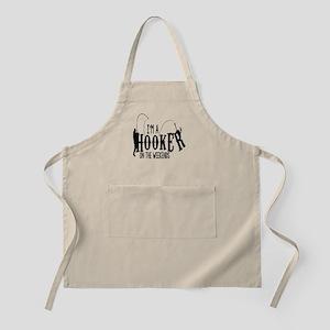 Hooker Fishing T Shirt Apron