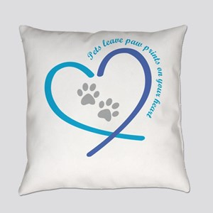 pets leave paw prints on your hear Everyday Pillow