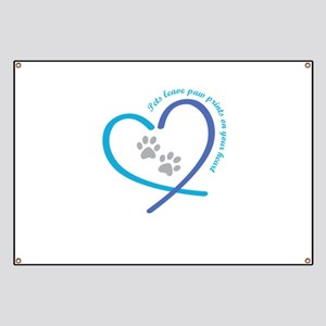 pets leave paw prints on your heart Banner