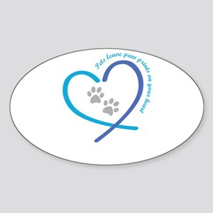 pets leave paw prints on your heart Sticker