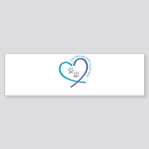 pets leave paw prints on your heart Bumper Sticker