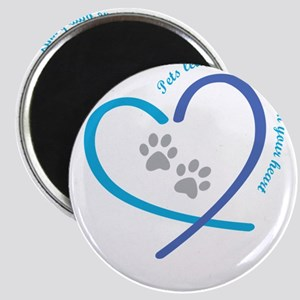 pets leave paw prints on your heart Magnets