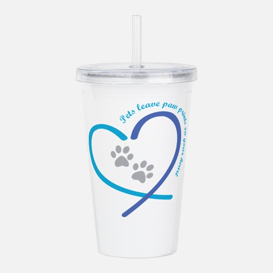 pets leave paw prints Acrylic Double-wall Tumbler