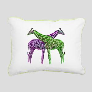 Bright Giraffes Rectangular Canvas Pillow