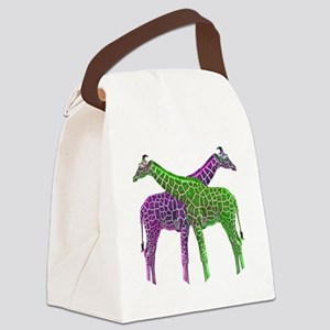 Bright Giraffes Canvas Lunch Bag